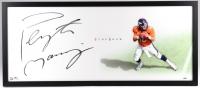 Peyton Manning Signed Broncos 20x43 Custom Framed Photo on P-Velvet Archival Paper (UDA COA)