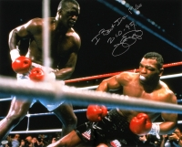"James ""Buster"" Douglas Signed 16x20 Photo Inscribed ""I Beat Iron Mike 2-10-90"" (Schwartz COA) at PristineAuction.com"