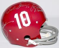 Bart Starr, Joe Namath & Ken Stabler Signed Alabama Full-Size Authentic Suspension Helmet (Radtke COA & TriStar Hologram)