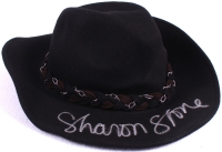 """Sharon Stone Signed """"The Quick And The Dead"""" Cowboy Hat Replica Prop (PSA COA) at PristineAuction.com"""