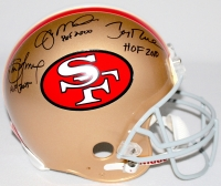 "Joe Montana, Jerry Rice & Steve Young Signed ""49ers Hall of Famers"" Full-Size Authentic Pro-Line Helmet (Radtke, Montana, Rice & Young Holograms)"