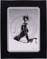 "Batman Returns ""Catwoman"" Surrounded by Whip Limited Edition 11x14 DC Comics Lithograph"