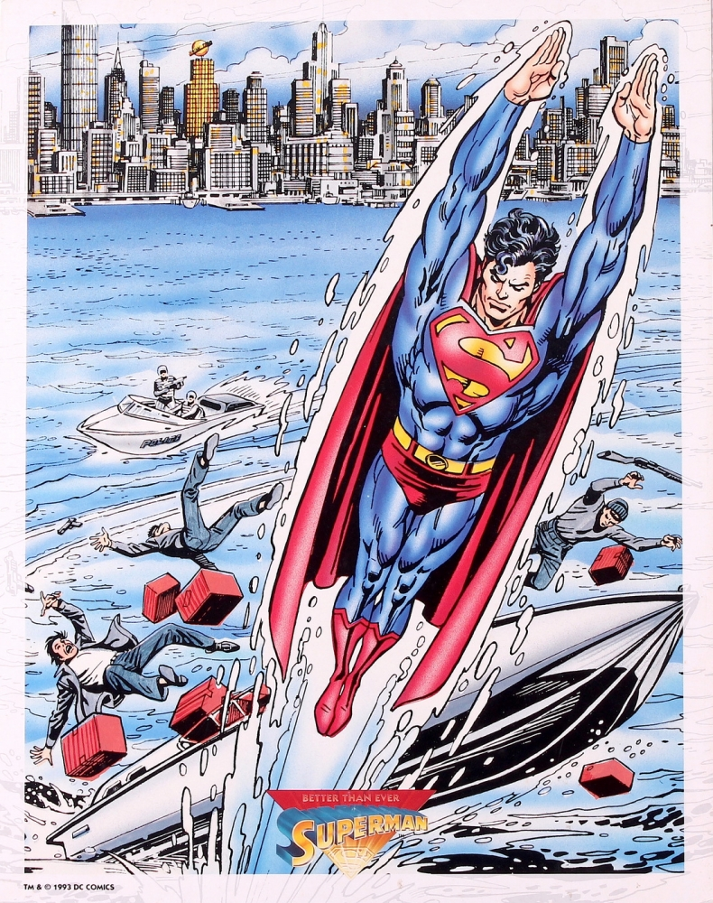 "Superman ""Better than Ever"" 1993 DC Comics Limited Edition 11x14 Art Lithograph at PristineAuction.com"