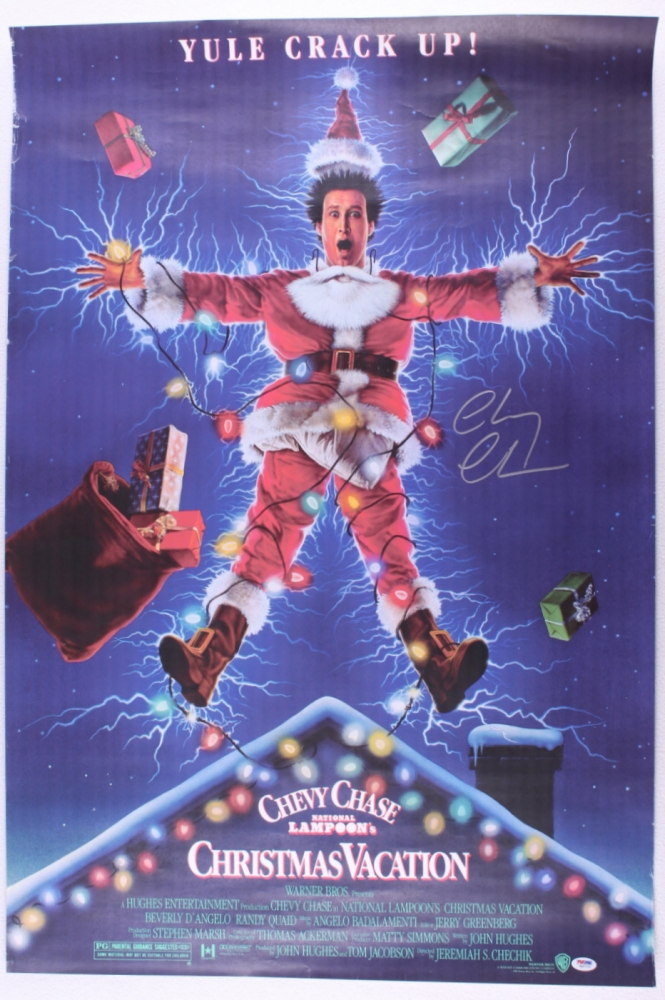 """Chevy Chase Signed """"National Lampoon's Christmas Vacation"""