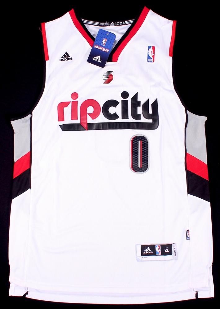 newest 955e5 40529 damian lillard rip city jersey