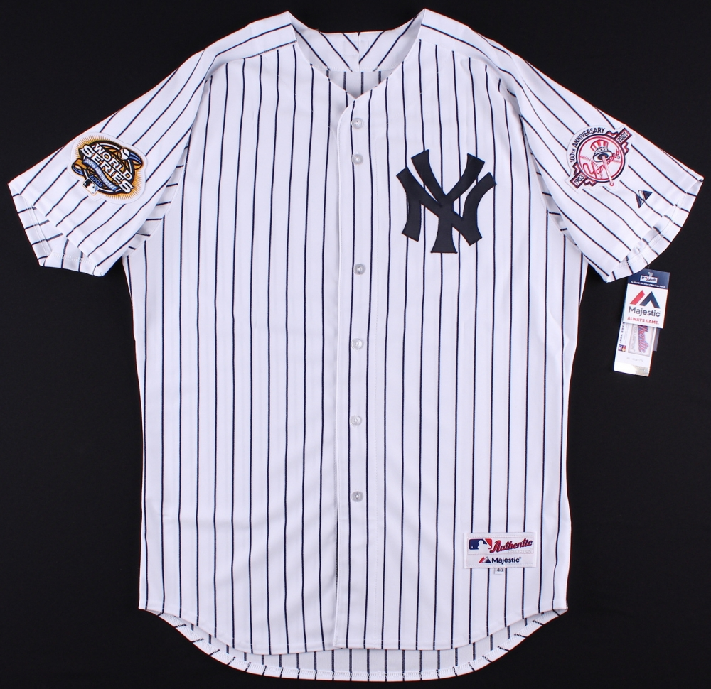 Derek Jeter Signed Yankees Authentic Majestic Jersey with 2003 World Series  Patch   Yankees 100th Anniversary 8621ba802b4