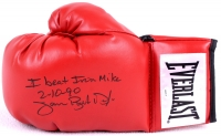 "Buster Douglas Signed Everlast Boxing Glove Inscribed ""I Beat Iron Mike 2/10/90"" (Schwartz COA) at PristineAuction.com"