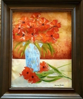 Alexandre Renoir Signed 2009 Original Impressionism 22x26 Custom Framed Oil on Canvas (PA LOA) at PristineAuction.com