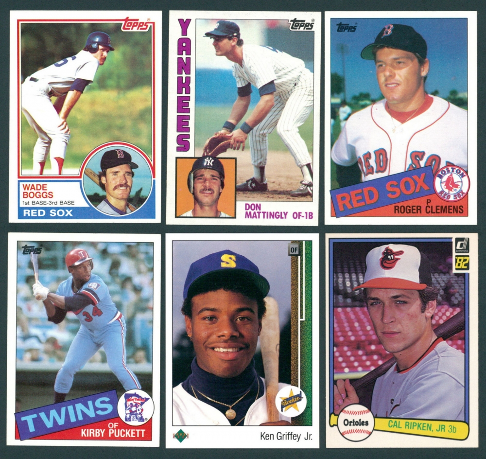 Lot Of 5 Rookie Baseball Cards With Ken Griffey Jr 1989: Online Sports Memorabilia Auction