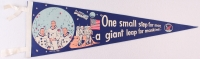 1969 Vintage Original Apollo 11 Pennant with Neil Armstrong, Buzz Aldrin & Michael Collins