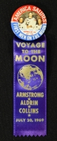 Vintage Original Apollo 11 Pin & Ribbon from 1969 with Neil Armstrong, Buzz Aldrin & Michael Collins at PristineAuction.com