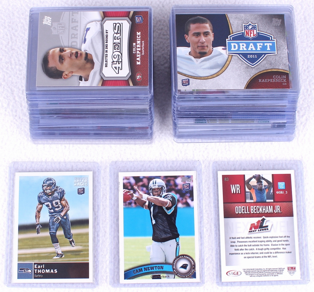 Lot Of 42 Assorted Football Rookie Cards With Colin