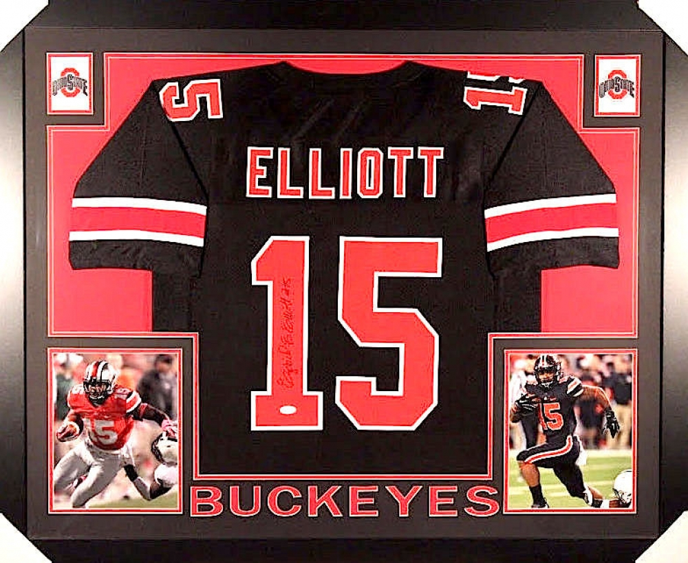 ee397b412 Ezekiel Elliott Signed Ohio State 35x43 Custom Framed Jersey (JSA COA) at  PristineAuction.