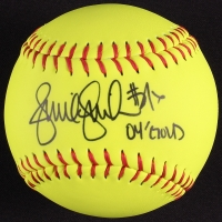 "Jennie Finch Signed Softball Inscribed ""04 Gold"" (Leaf COA) at PristineAuction.com"