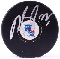 Dan Boyle Signed Rangers Logo Puck (PSA COA) at PristineAuction.com