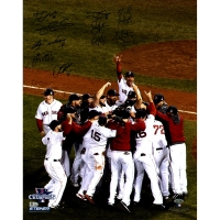 """Boston Red Sox Team Signed 2013 """"World Series Celebration"""" 16x20 Photo with (11) Autographs (Steiner COA) at PristineAuction.com"""