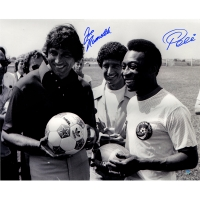 Joe Namath & Pele Signed 16x20 Photo (Steiner COA)