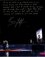 "Brian Leetch Signed Rangers ""Retirement Night"" 16x20 Photo with Handwritten Story Inscription (Steiner COA)"