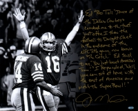 "Joe Montana Signed 49ers ""The Catch"" 16x20 Photo with Handwritten Story Inscription (Steiner COA)"