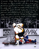 "Mike Richter Signed Rangers 16x20 ""Split Save"" Photo with Handwritten Story Inscription (Steiner COA)"