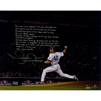"Mariano Rivera Signed Yankees ""World Series Save"" 16x20 Metallic Photo with Handwritten Story Inscription (Steiner COA)"