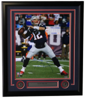 Tom Brady Signed New England Patriots 22x27 Custom Framed Photo (TriStar Hologram)