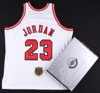 "Michael Jordan Signed Bulls Authentic On-Court Jersey with Hall of Fame Patch Inscribed ""2009 HOF"" Limited Edition #1/123 (UDA COA)"