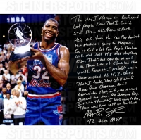 Magic Johnson Signed NBA All-Star Game 16x20 Photo with Handwritten Story Inscription (Steiner COA)