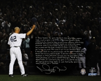 "Mariano Rivera Signed Yankees ""Last Game In Pinstripes"" 16x20 Photo with Handwritten Story Inscription (Steiner COA)"