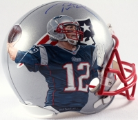 Tom Brady Signed Patriots Custom Hand-Painted Full-Size Helmet Limited Edition #1/1 (TriStar Hologram) at PristineAuction.com