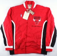 Michael Jordan Signed LE Authentic Mitchell & Ness Chicago Bulls Warm Up Jacket (UDA COA)