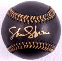 Sharon Stone Signed OML Black Leather Baseball (PSA COA) at PristineAuction.com