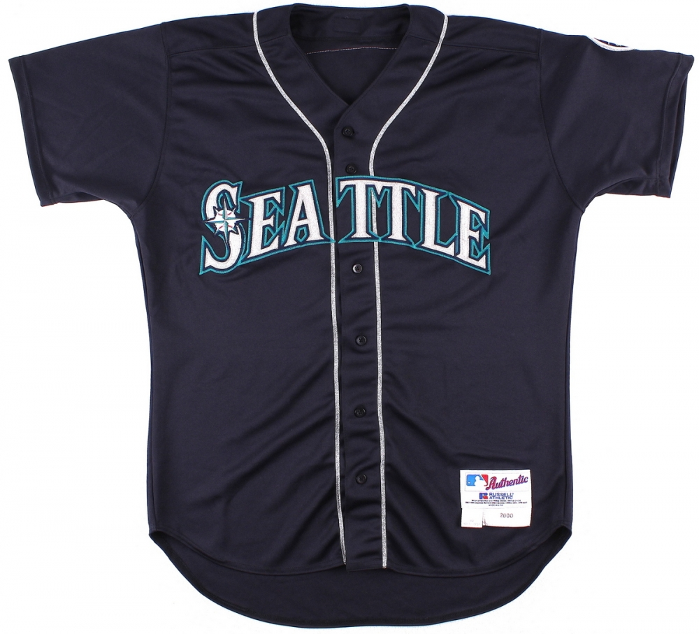 ... Alex Rodriguez 2000 Seattle Mariners Game-Used Alternate Jersey (Grey  Flannel LOA) at ... fa46bf509
