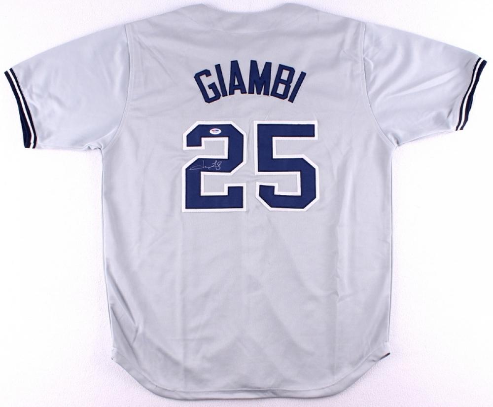 Jason Giambi Signed Yankees Jersey (PSA COA) at PristineAuction.com 88cc6b78820