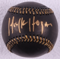 Hulk Hogan Signed OML Black Leather Baseball (Schwartz COA) at PristineAuction.com