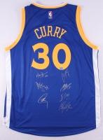 Multi-Signed Stephen Curry Warriors Adidas Jersey Signed by (7) With Stephen Curry, Klay Thompson, Andre Iguodala, Shaun Livingston, Harrison Barnes, David Lee & Marreese Speights (Fanatics Hologram)