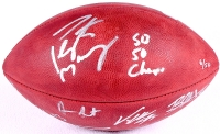 "Denver Broncos LE Team-Signed ""The Duke"" NFL Official Game Ball Inscribed ""SB 50 Champs"" With (10) Signatures Including Peyton Manning, Von Miller, DeMarcus Ware, Emmanuel Sanders (Fanatics Hologram)"