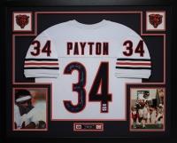 Walter Payton Signed Bears 35x43 Custom Framed Jersey with (5) Career Stat Inscriptions (PSA LOA & Payton Hologram)