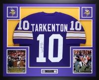 """Fran Tarkenton Signed 35"""" x 43"""" Custom Framed Jersey Inscribed """"HOF 86"""" (JSA COA) at PristineAuction.com"""