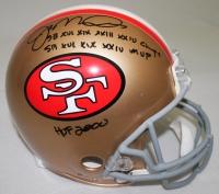"Joe Montana Signed LE 49ers Full-Size Authentic Pro-Line Helmet Inscribed ""SB XVI XIX XXIII XXIV Champs,"" ""HOF 2000"" & ""SB XVI XIX XXIV MVP"" (Radtke COA & Montana Hologram)"