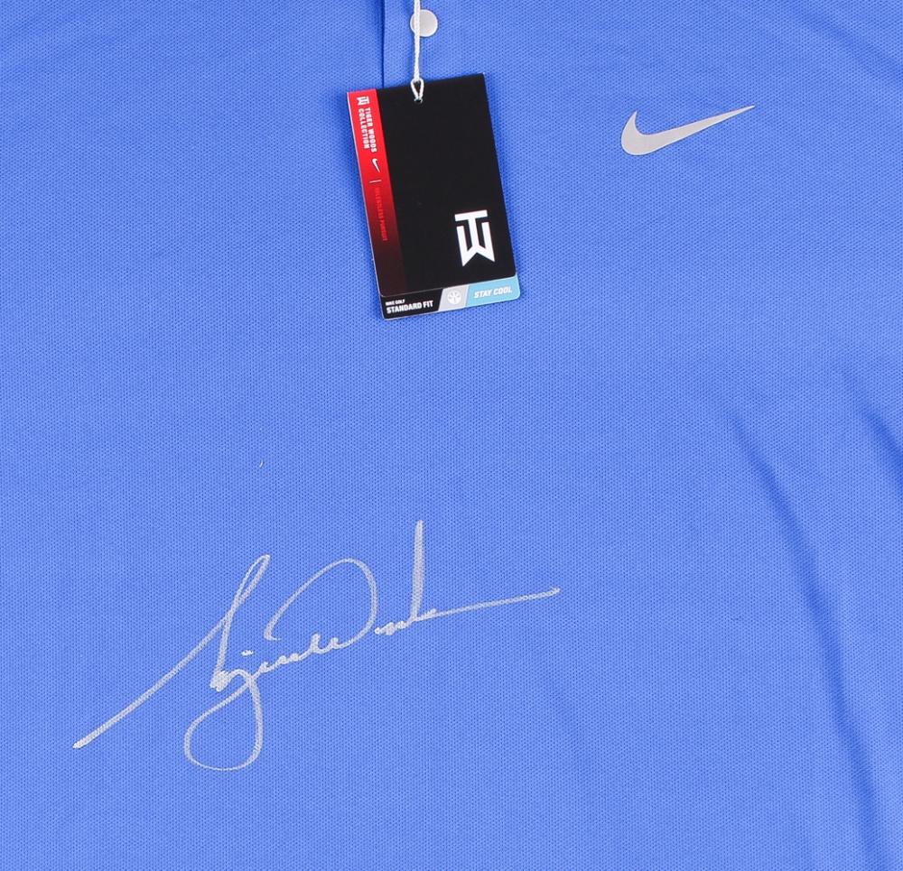 681aa4ee Tiger Woods Signed LE Blue Nike Golf Shirt (UDA COA) at PristineAuction.com