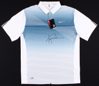 Tiger Woods Signed LE Blue Metallic Nike Golf Shirt (UDA COA)