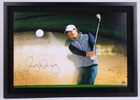 "Rory McIlroy Signed LE ""Sandtrap"" 20x28 Custom Framed Photo Display with Golf Ball Breakthrough (UDA COA)"