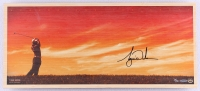 """Tiger Woods Signed """"Perfecting the Craft"""" 11x25 Limited Edition Bamboo Print (UDA COA) at PristineAuction.com"""