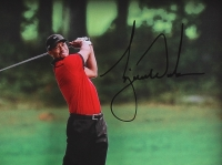 """Tiger Woods Signed """"Approach"""" 16x20x3 Custom Framed Shadowbox Display (UDA COA) at PristineAuction.com"""