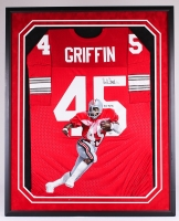 "Archie Griffin Signed LE Ohio State 34x42 Custom Framed Hand-Painted Jersey Display Inscribed ""H.T 74/75"" #1/1 (Radtke Hologram)"
