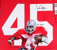 "Archie Griffin Signed LE Ohio State 34x42 Custom Framed Hand-Painted Jersey Display Inscribed ""H.T 74/75"" #1/1 (Radtke Hologram) at PristineAuction.com"