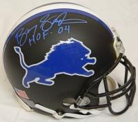 Barry Sanders Signed Detroit Lions Custom Black Matted Pro Helmet w/HOF 04 at PristineAuction.com
