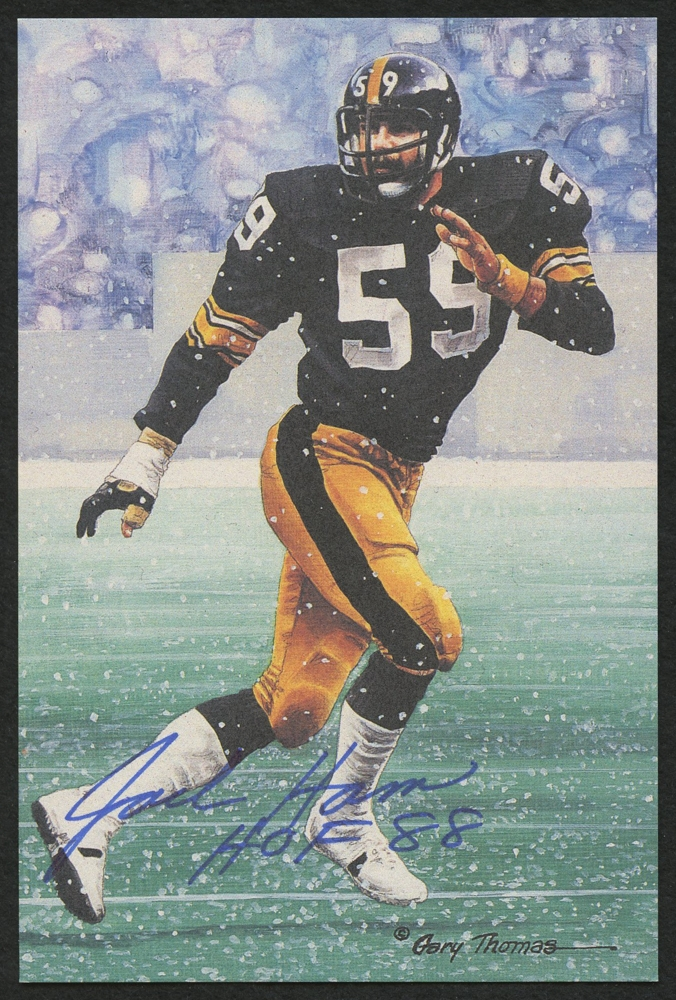 ea465d8e946 Jack Ham Signed Steelers LE 4x6 Pro Football Hall of Fame Art Series #102  Inscribed