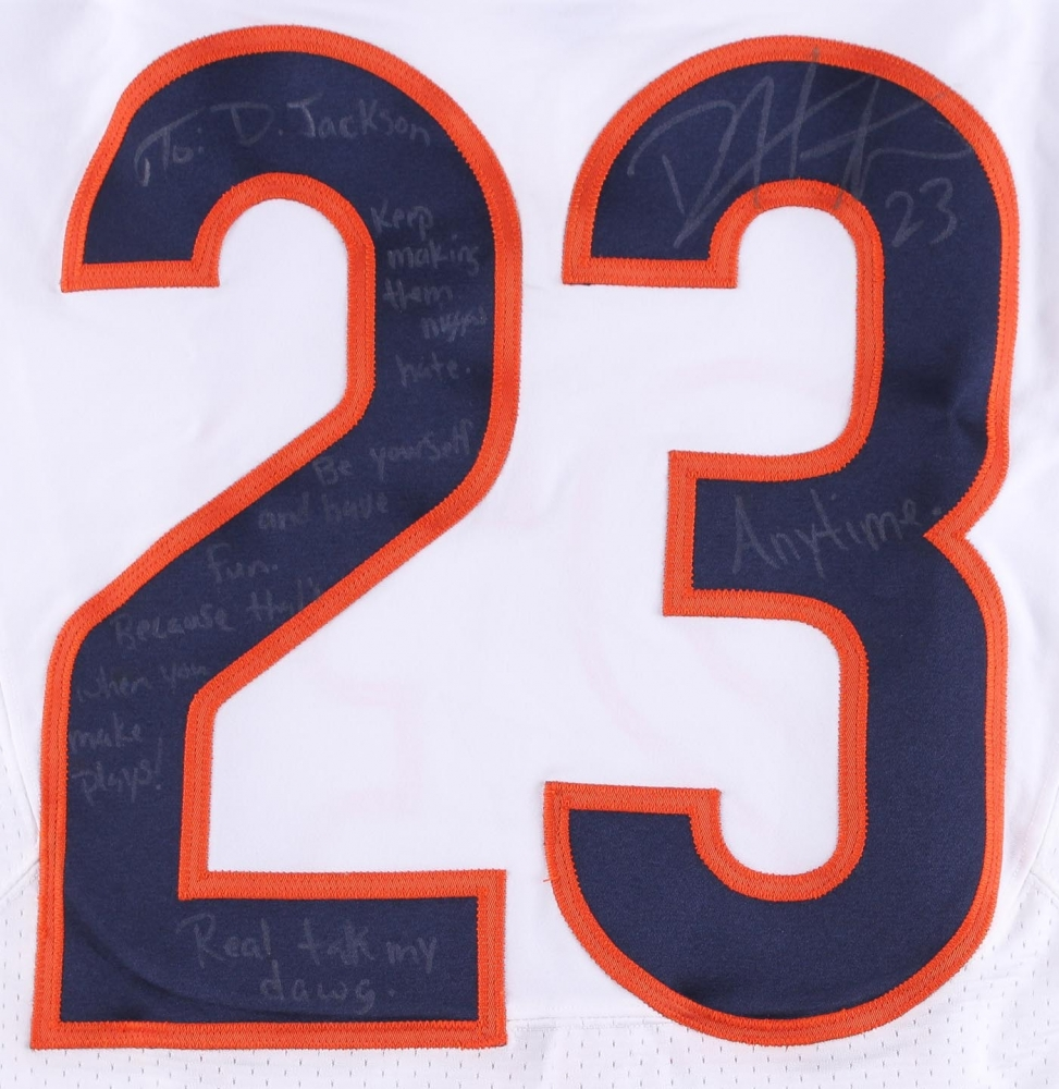 6ea74494c ... Devin Hester Signed Bears Game-Used Jersey with Extensive Inscription  (JSA LOA) at Lot Detail ...